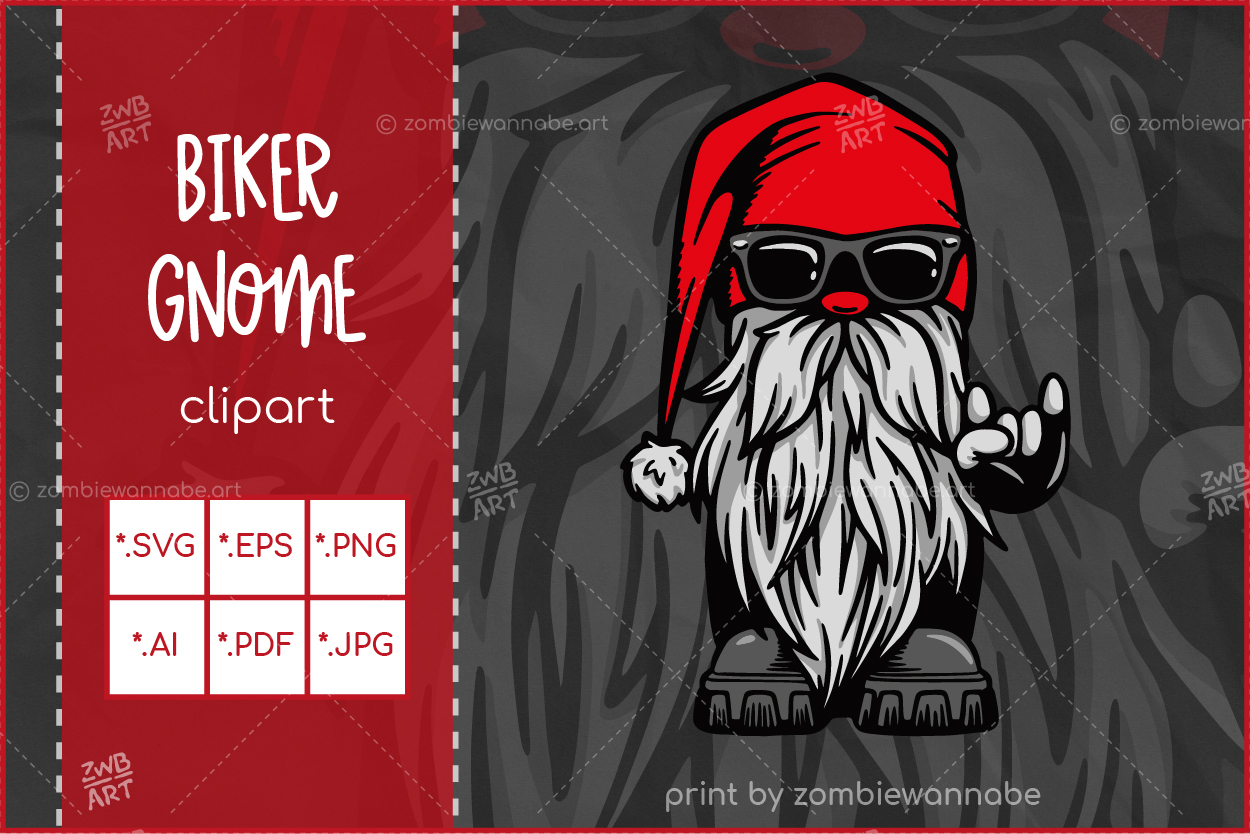 Christmas Biker Gnome - prw1 - live on DesignBundles.net