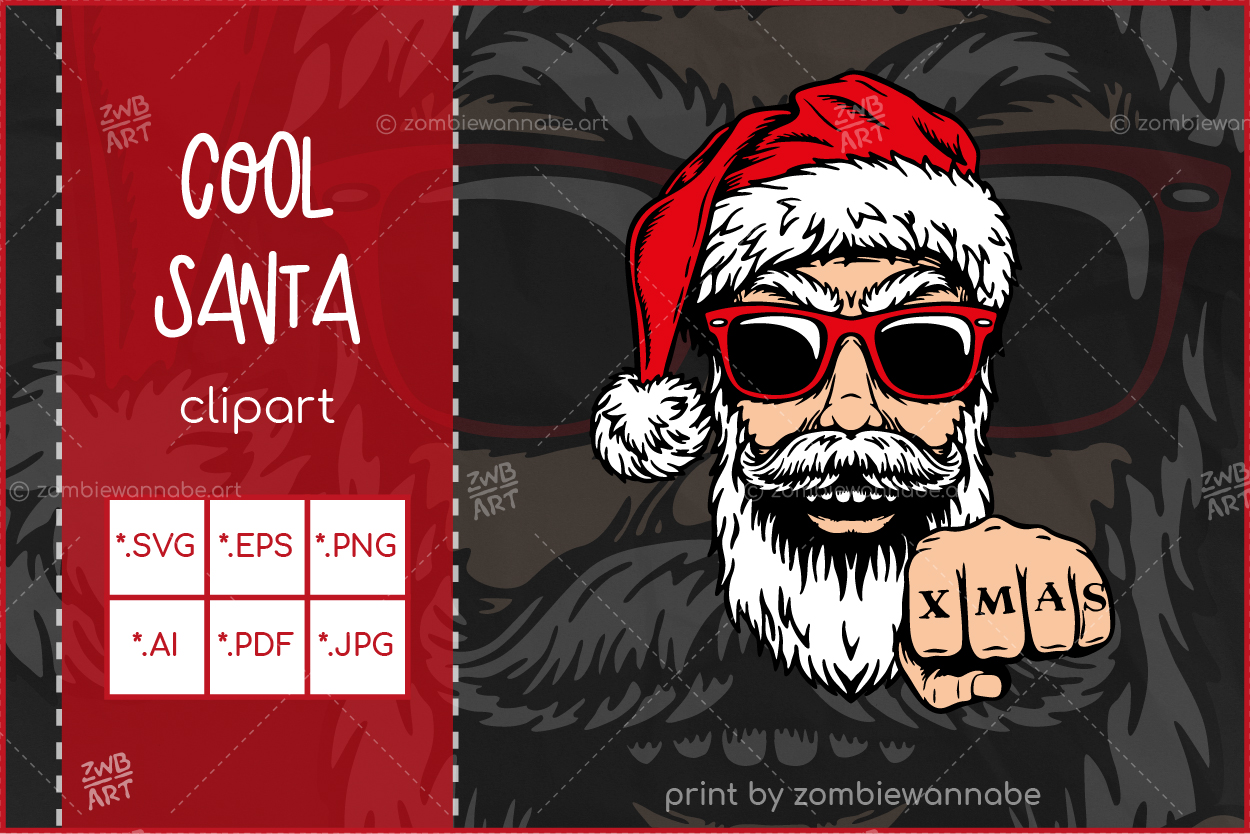 Christmas Cool Santa - prw1- live on DesignBundles.net