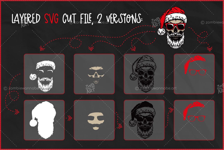 Christmas Skull Santa - prw2- live on DesignBundles.net