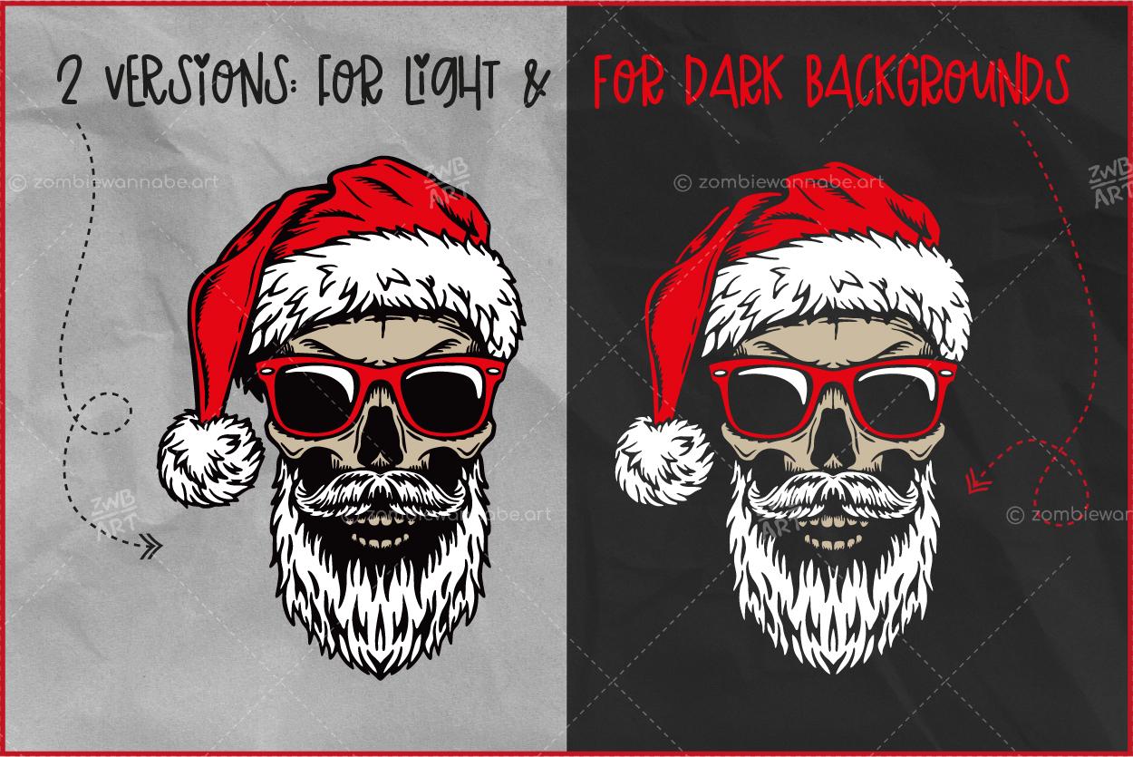Christmas Skull Santa - prw3- live on DesignBundles.net