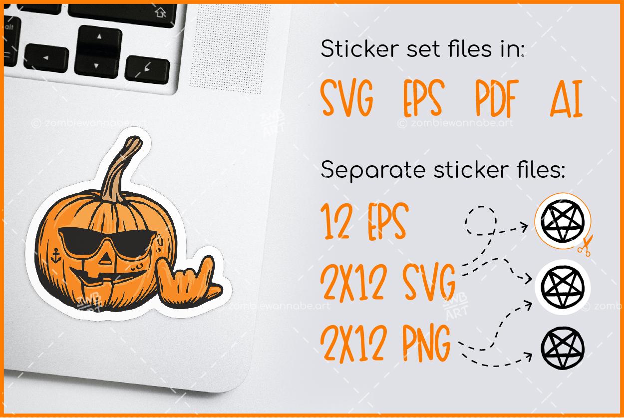 Halloween Sticker Pack - prw2- live on DesignBundles.net