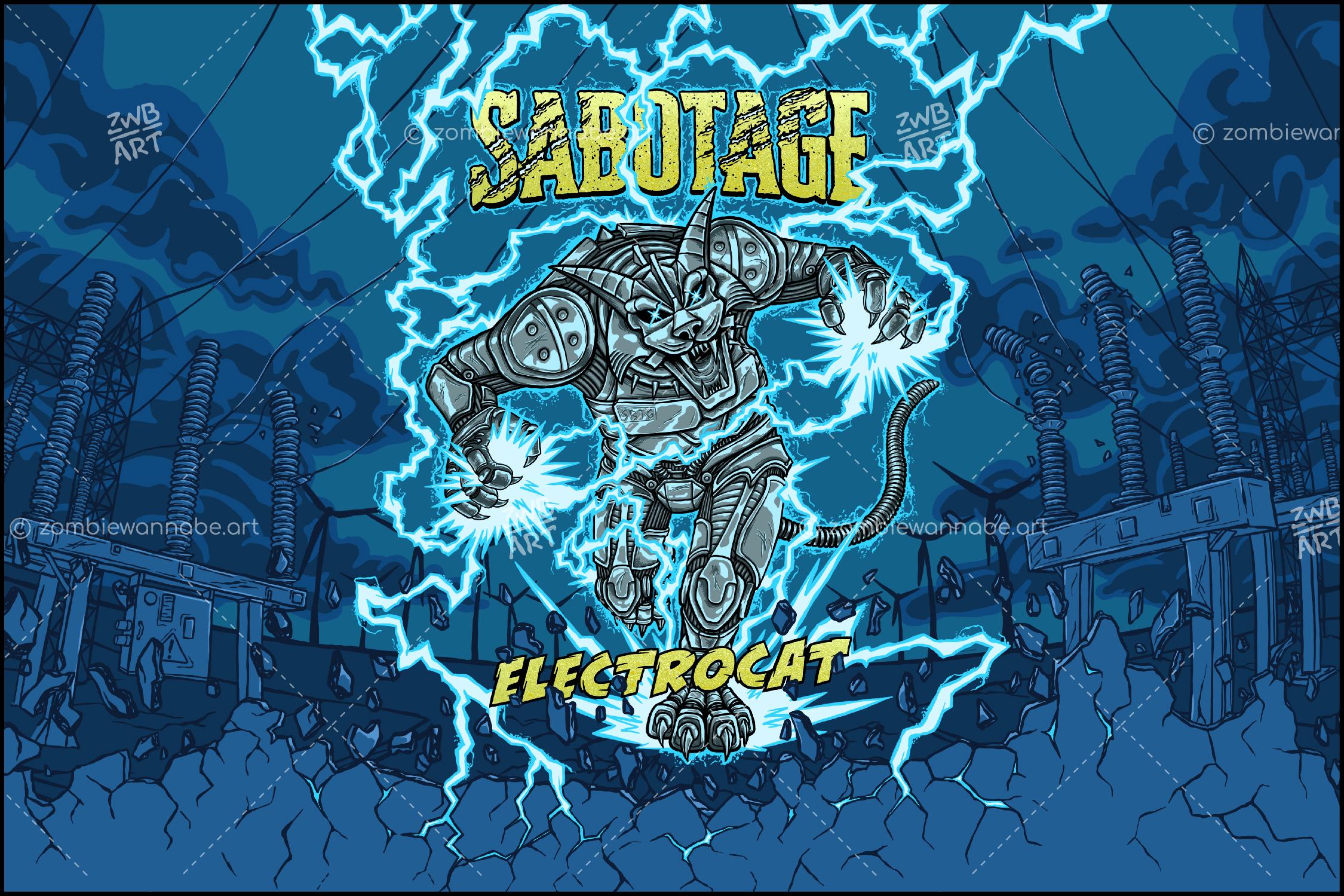 Sabotage - Electrocat - commissioned work