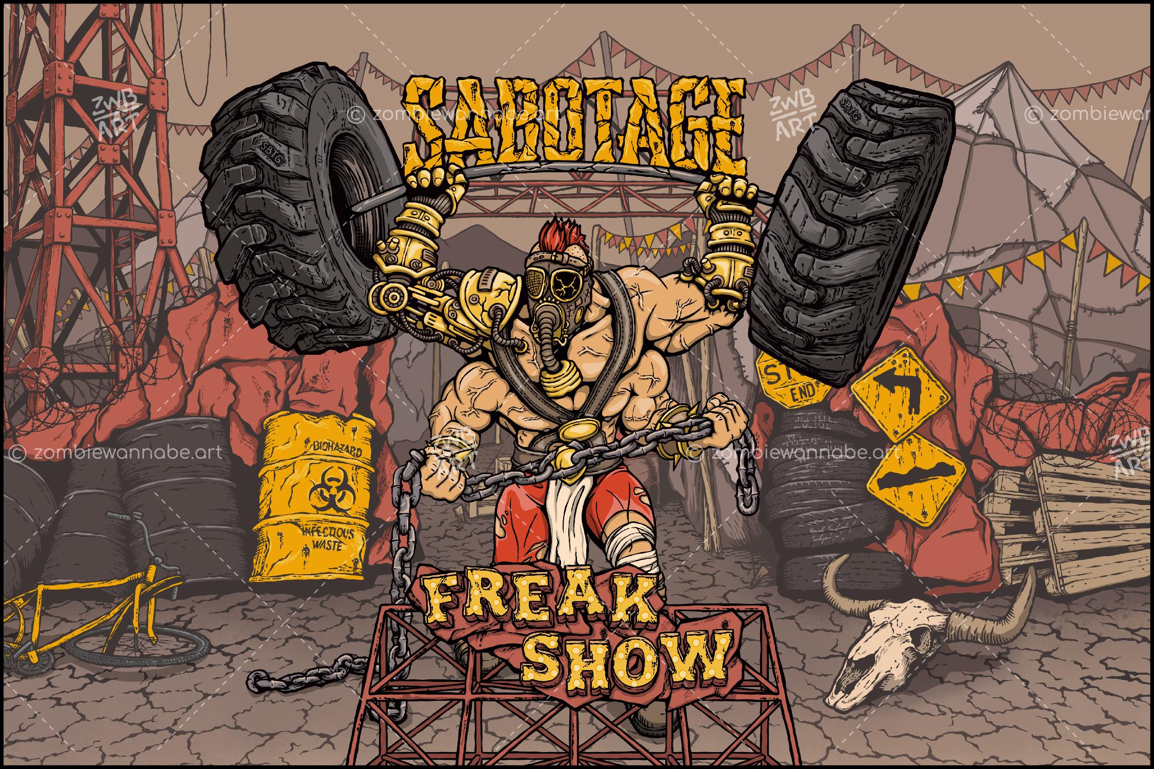 Sabotage - Freak Show - commissioned work