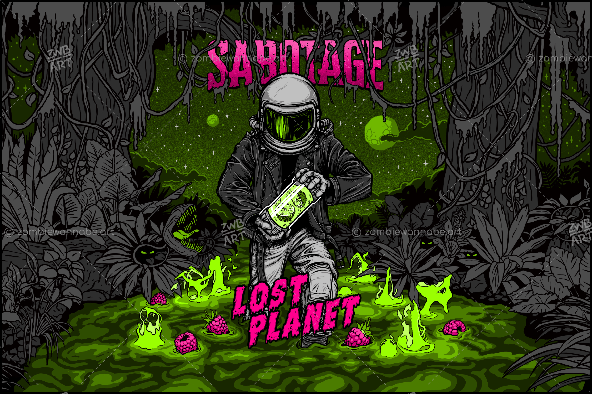 Sabotage - Lost Planet - commissioned work