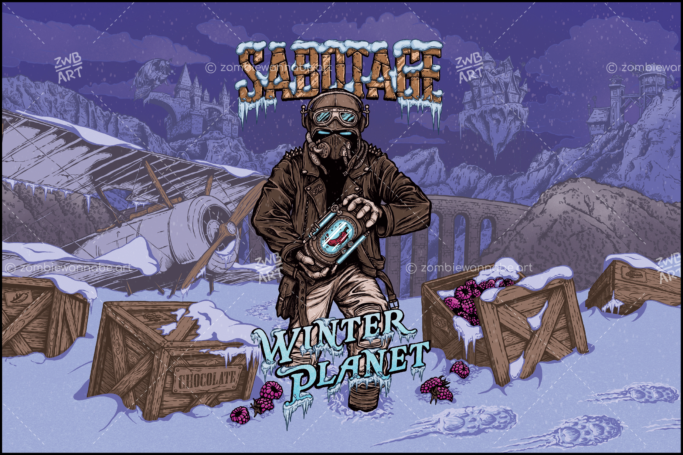 Sabotage - Winter Planet - commissioned work