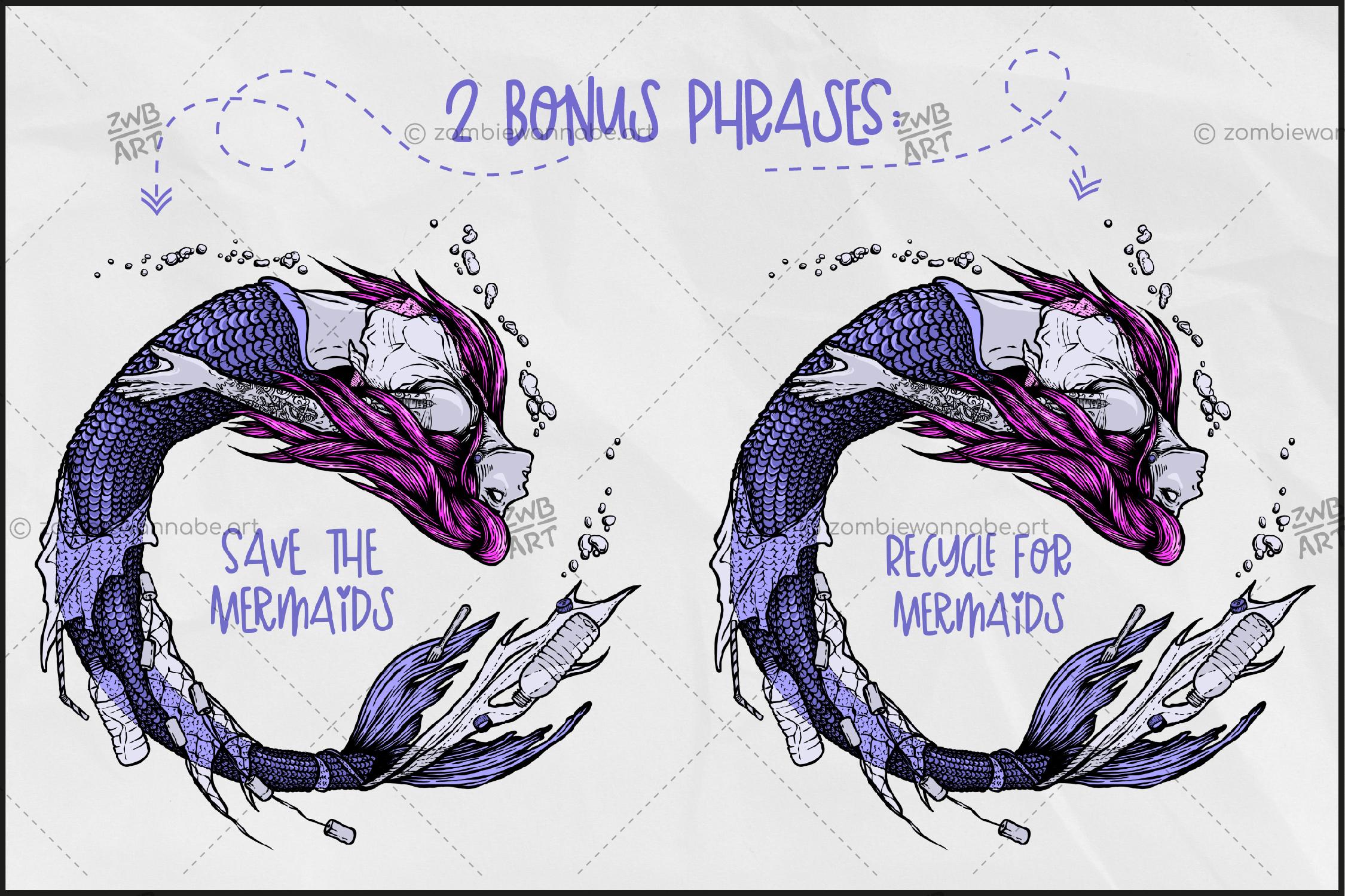 Trash Mermaid - prw5- live on DesignBundles.net